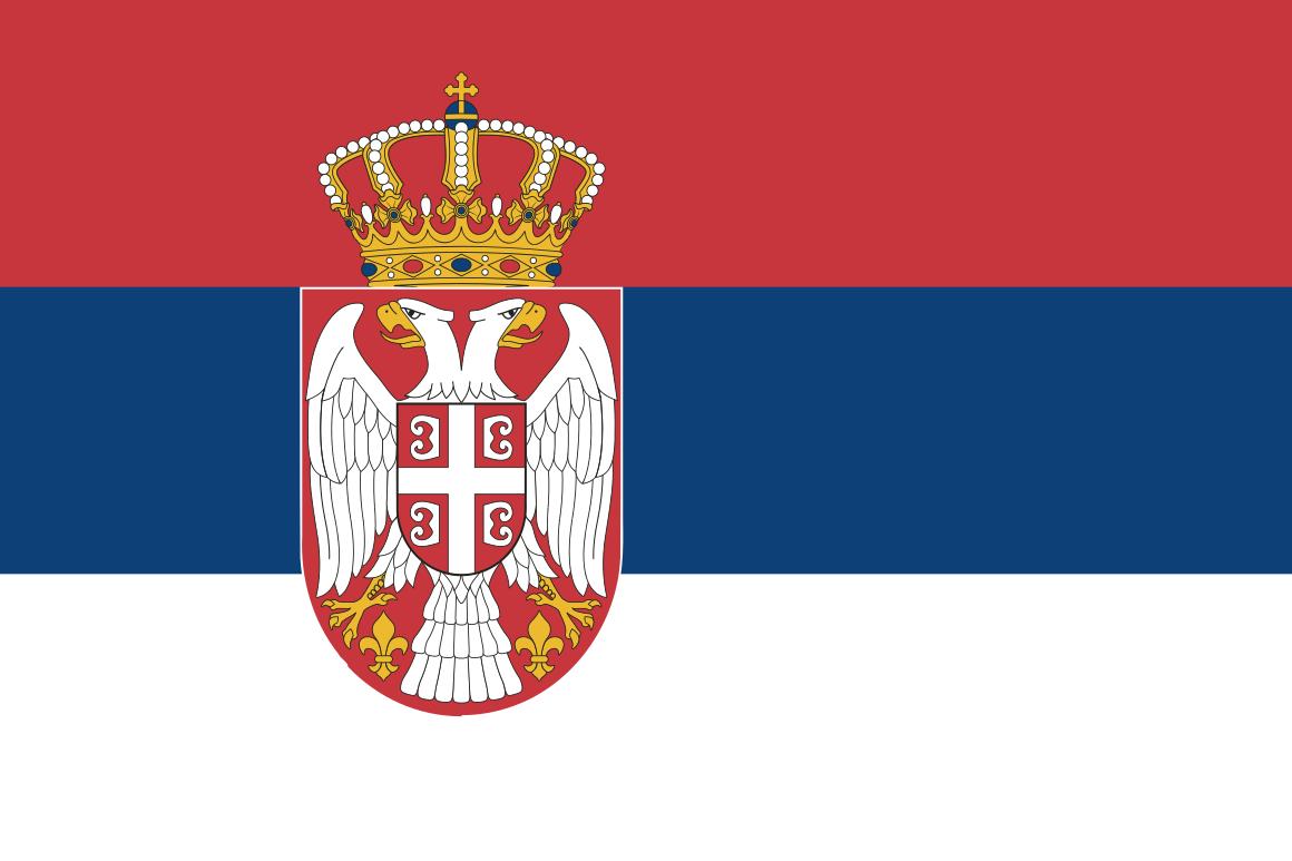 Mannschaftsfoto für Serbien